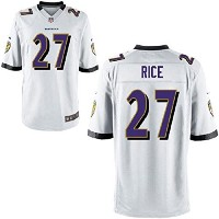 Ray Rice Baltimore Ravens # 27 Youth on Field Jerseyホワイト ホワイト
