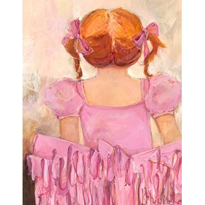 """Oopsy Daisy Fine Art for Kids Angelicバレリーナレッドヘアキャンバス壁アートby Kristina Bass Bailey 14 x 18"""" NB23505"""