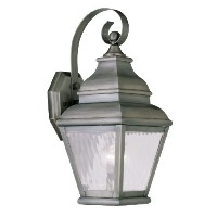 Livex Lighting 2601-29 Exeter 1-Light Outdoor Wall Lantern, Vintage Pewter by Livex Lighting