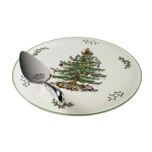 Spode Christmas Tree Cake Plate and Server by Spode