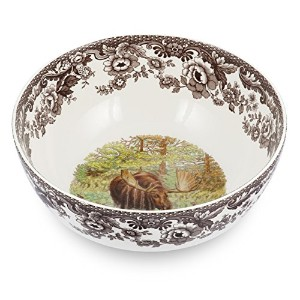 Spode Woodland Majestic Moose Round Salad Bowl by Spode