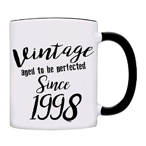 owndis Mug 20th誕生日プレゼントVintage Aged to be perfected 1997年以降コーヒーマグ ブラック 0106-2