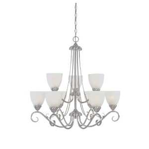 Designers Fountain 98089-SP Stratton Chandeliers, Satin Platinum by Designers Fountain
