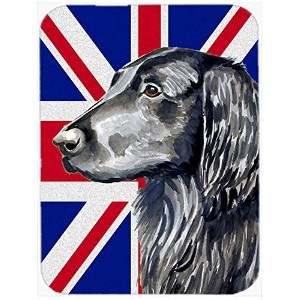 Carolines Treasures LH9473LCB Flat Coated Retriever With English Union Jack British Flag Glass...