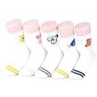 ディズニー キャラクター 女性 靴下 セット Disney Pixar Characters Original Set Socks 5 pairs - Family 02