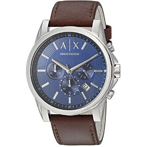 Armani Exchange アルマーニ エクスチェンジ メンズ 時計 腕時計 Men's AX2501 Stainless Steel Blue Dial Watch With Brown...