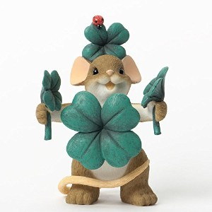 Enesco Charming Tails Lucky Figurine, 2.37 by 3.25-Inch [並行輸入品]