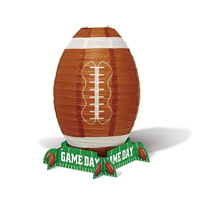 Game Day Football Lantern Centrepiece