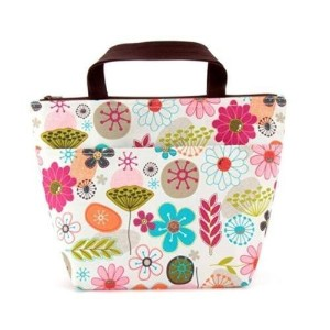 eatingbiting & # xff08; R & # xff09、防水花柄ランチバッグトート断熱クーラーCarry Bag for旅行、ピクニック、カラフルなフラワーパターン、Very...