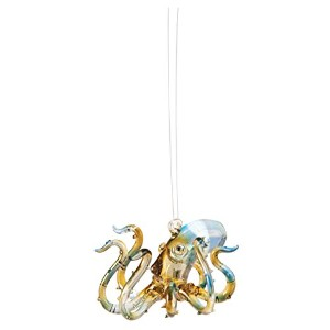 Ocean Sea Animal Octopusガラス3インチHoliday Ornament Figurine by C & F Enterprises