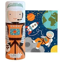 Petit Collage Tin Canister Jigsaw Floor Puzzle, Into Space, 64 Pieces by Petit Collage