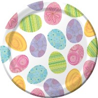 8-count Round Paper Dinner Plates、ハッピーエッグハント