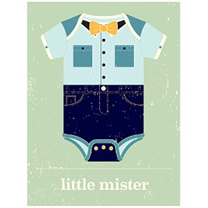 BR & nameinternal–Little Mister 10x 14キャンバス壁アート、byビジョンCity