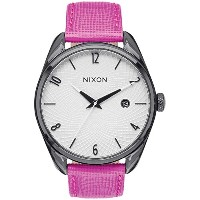 ブラック/ホットピンクThe Bullet Leather Watch by Nixon