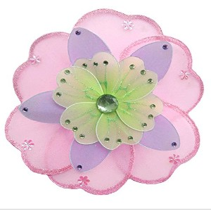 Hanging Flower 6 Small Pink Purple Green Triple Layered Mesh Nylon Flowers Decorations Decorate...