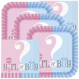 Gender RevealテーマBaby Shower Napkins andプレート