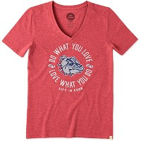 Womens Cool Vee Gonzaga Do What You Love円 S レッド