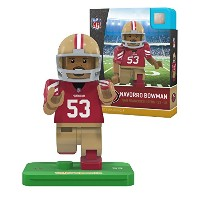 NFL San Francisco 49ers gen4 Limited Edition Navarro Bowman Mini Figure、スモール、ホワイト
