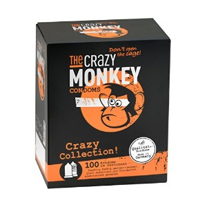The Crazy Monkey Crazy Collection Condoms - 100-Piece by The Crazy Monkey