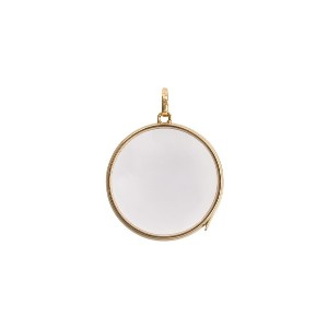 Loquet Large Round Gold Locket ペンダント - イエロー