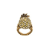 Gucci Pineapple リング - メタリック