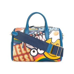 Anya Hindmarch giant stickers tote - ブルー