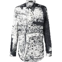 Alexander McQueen London Map シャツ - ブラック