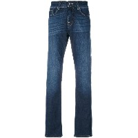 7 For All Mankind ストーンウォッシュ ストレートジーンズ - ブルー