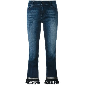 7 For All Mankind ブーツカット クロップドジーンズ - ブルー