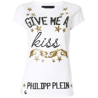 Philipp Plein Give me a kiss Tシャツ - ホワイト