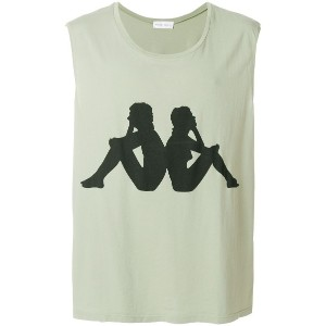 Faith Connexion logo print tank top - グリーン