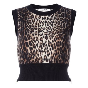 Givenchy knitted cropped tank top - ブラック