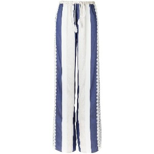 Martha Medeiros striped Marcela trousers - ホワイト