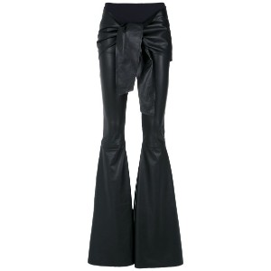 Andrea Bogosian flared leather trousers - ブラック