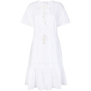 See By Chloé open embroidery midi dress - ホワイト