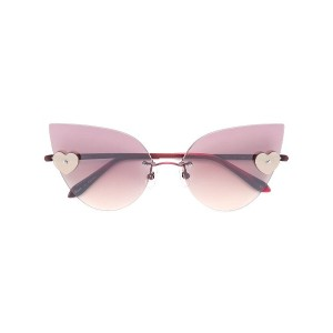 Sama Eyewear Loree Rodkin Kiss サングラス - レッド