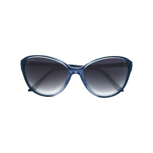 Cartier Eyewear Double C Décor サングラス - ブルー