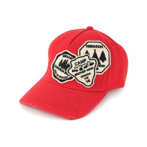 Dsquared2 patch-work baseball cap - レッド