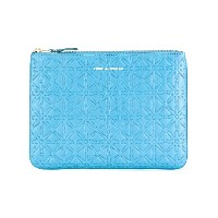 Comme Des Garçons Wallet Colour Embossed A クラッチバッグ - ブルー