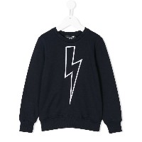 Neil Barrett Kids Lightning bolt スウェットシャツ - ブルー