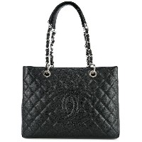 Chanel Pre-Owned ロゴトートバッグ - ブラック