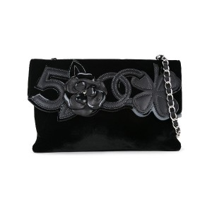 Chanel Pre-Owned Number 5 Camellia ショルダーバッグ - ブラック