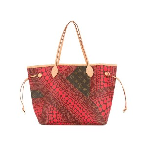 Louis Vuitton Vintage Neverfull Monogram ショルダーバッグ - レッド