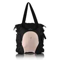 Obersee Innsbruck Diaper Bag Tote with Cooler, Black/Bubble Gum by Obersee