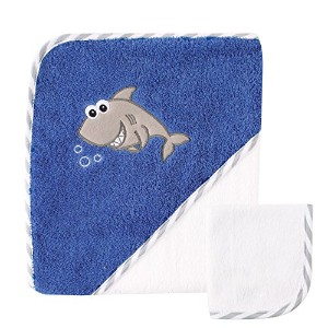 Luvable Friends Hooded Towel and Washcloth, Shark by Luvable Friends