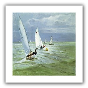 ArtWall ' Around the Buoy 'フラットUnwrappedキャンバスアートby Timothy Easton、18by 18インチ