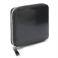 (コムデギャルソン)COMME des GARCONS ウォレット MIRROR INSIDE ZIP AROUND SMALL WALLET SA2100MI sv BLACK /...