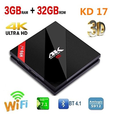 Timmery 3G / 32G H96 Pro Plus Android 7.1スマートTV BOX Amlogic S912デュアルバンドWIFI 2.4GHz / 5.0GHz...