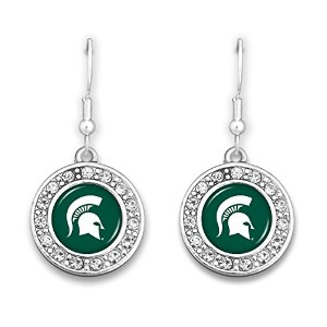 Michigan State Spartans円ロゴイヤリングwithラインストーン