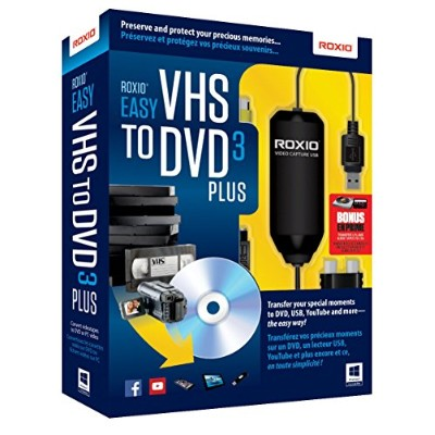 簡単にVHSをDVDへ変換★Roxio社 Easy VHS to DVD Plus  ( v. 3 ) 英語版【並行輸入】